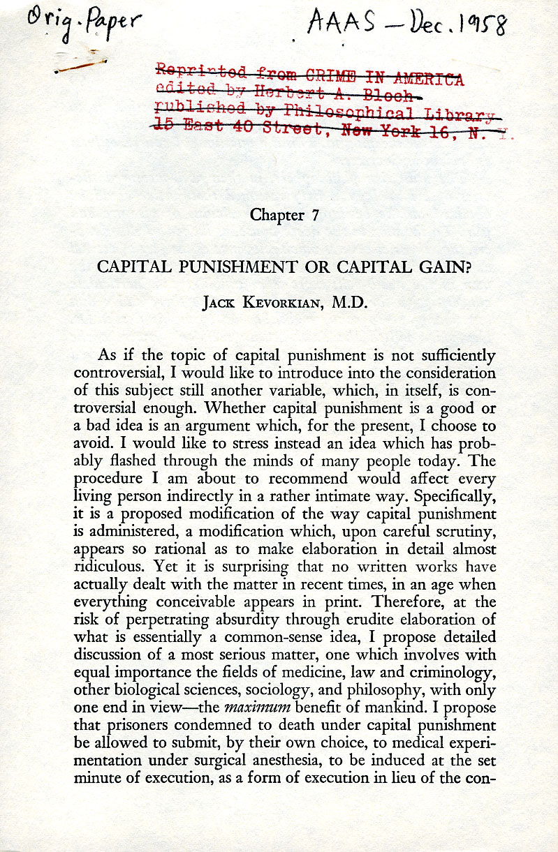 capital punishment is it required essay